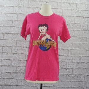 Vintage 90s Betty Boop Pink Shirt Small